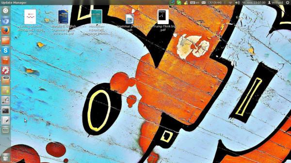 Мой рабочий стол Ubuntu 12.04 LTS (Linux)