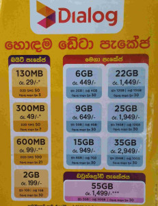 Dialog Internet Packages Prices Sri Lanka