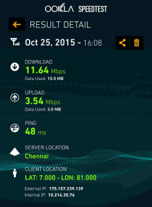 Internet speed Colombo Dialog