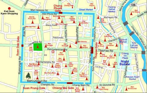 Карта Чианг Мая