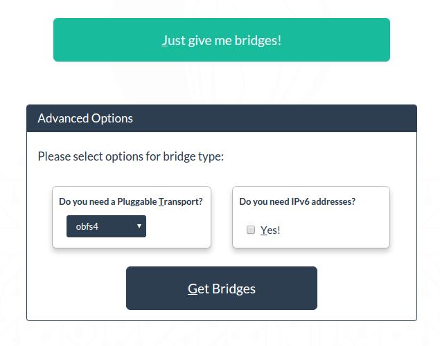 Tor получить мост