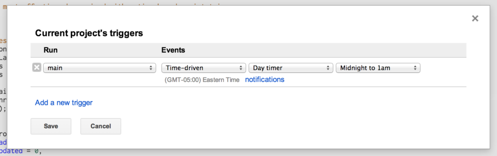 schedule triggers gmail no response