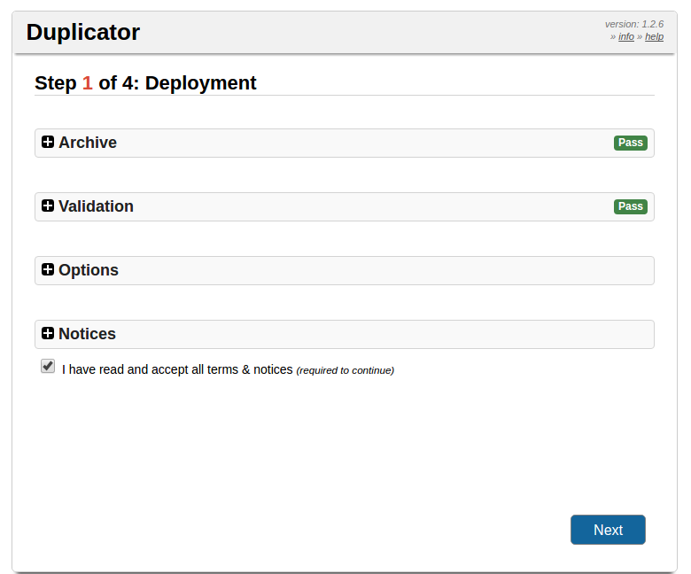 Перенос WP сайта на другой хостинг - запуск Дупликатора