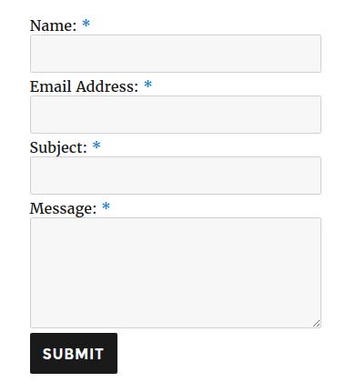 ContactForm форма обратной связи WordPress