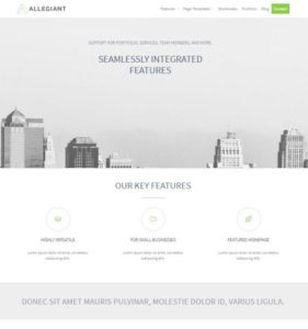 Landing page template Allegiant
