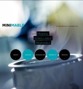 minimable шаблон лендинга