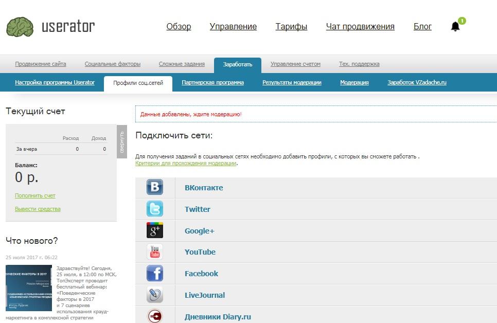 userator.ru - модерация