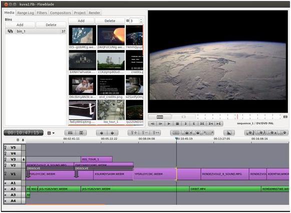 Бесплатный редактор видео Flowblade