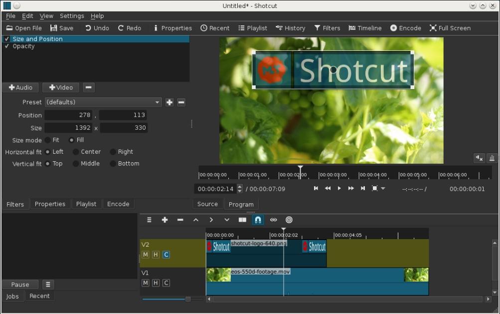 Редактирование видео в Shotcut