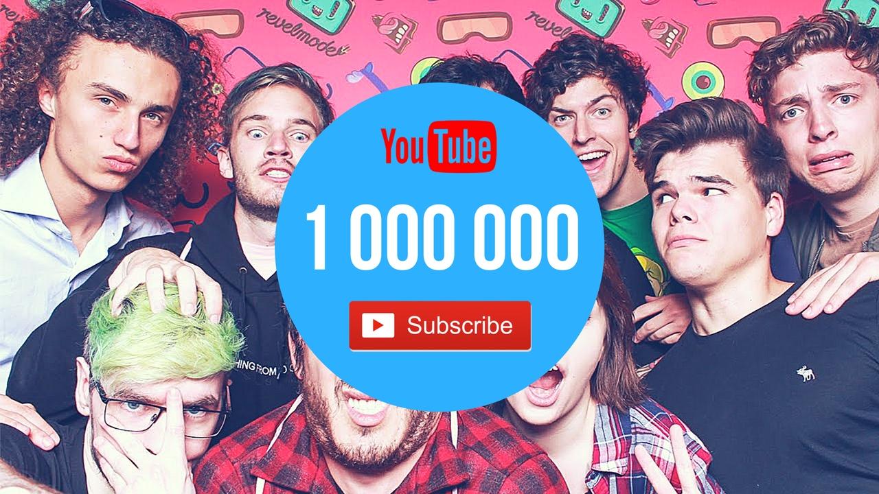 Миллион подписчиков YouTube
