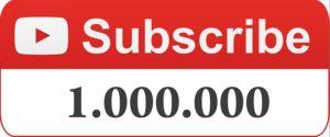 Кнопка подписаться с миллионом подписчиков на Ютубе